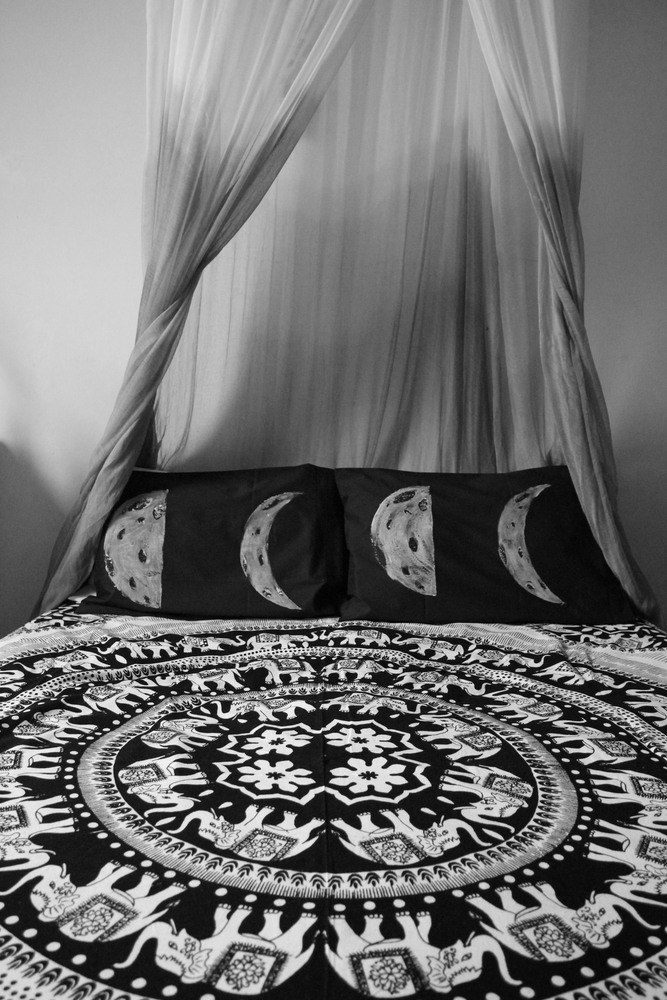 Dark Side of the Moon Phase Pillow Case Set. / An Enchanted Life.