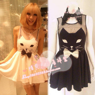 vestido gato cat dress wh336 from kawaii clothing on