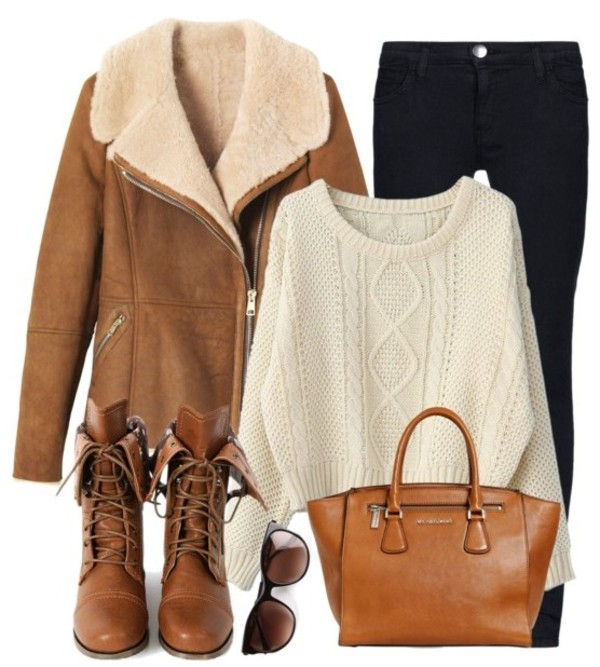shoes fashion girl collection ootd outfit brown clothes clothes jacket sweater