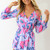 Purple Jump Suits/Rompers - Floral Print V-Neckline Playsuit with | UsTrendy