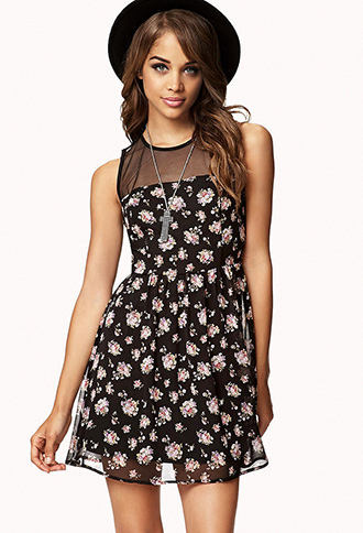 Rosebud Fit & Flare Dress | FOREVER 21 - 2057439829