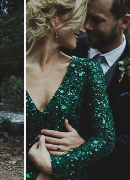 dress sequin dress emerald dress