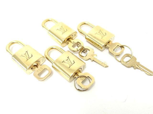 Auth Louis Vuitton Padlock Cadena Key Lock Top Pendant GP 4 Set 98100018400 6 | eBay