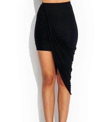 Draped skirt [Black]   Raggedy Endz