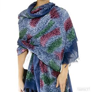 Tilo Designer Cotton Eyelash Fringe Patterned Scarf MSRP $150 Shopbop Lovequotes | eBay