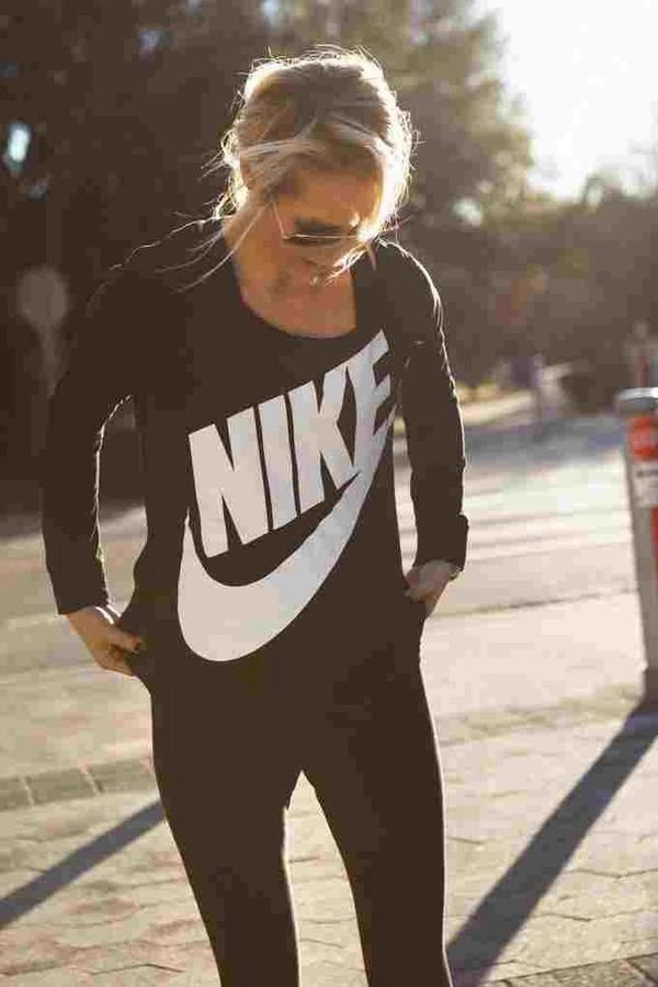 shirt nikesweatshirt nike black sweatshirt sweater