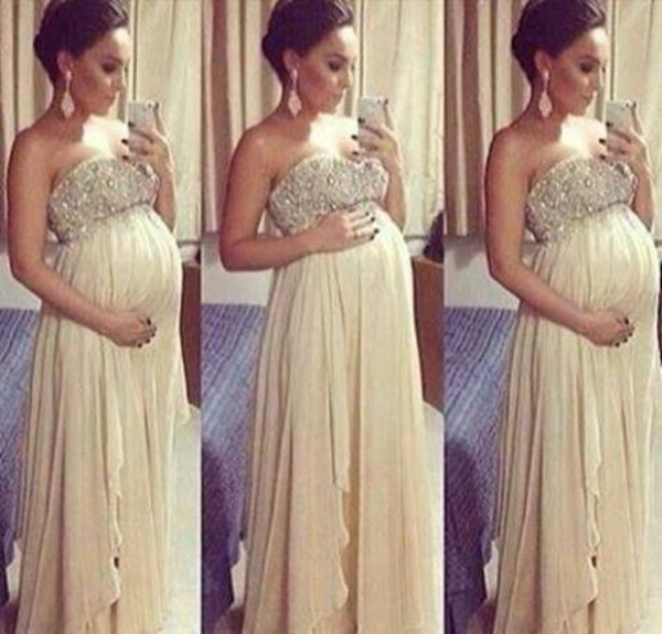 dress beige dress beige gold long prom dress maternity dress sequin dress prom dress