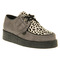 Underground wulfrun creeper grey leopard suede shoes - womens flats shoes - office shoes