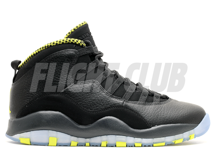 "air jordan retro 10 ""venom"" - black/vnm green-cl gry-anthrct - Air Jordans  
