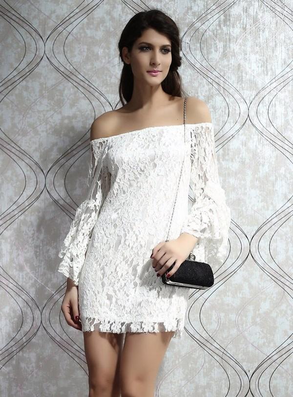 dress lace dress fashion  dress long sleeve dress