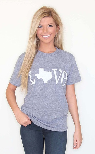 t-shirt texas love country