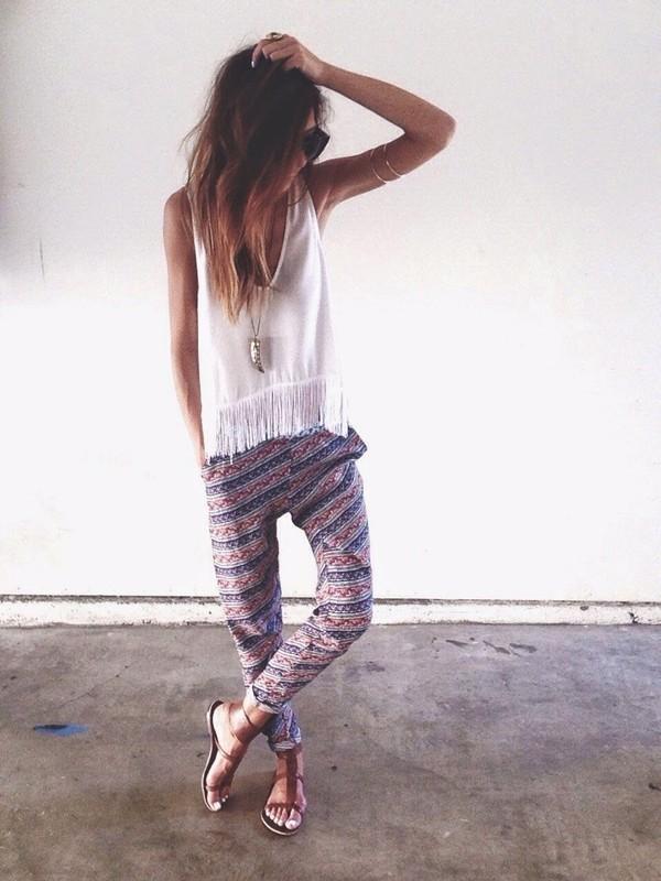 pants top blouse shoes tank top