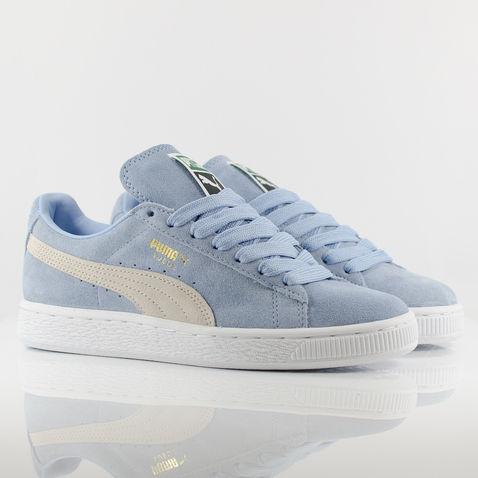 Womens Puma Suede Classic Trainers - Powder Blue/White | eBay
