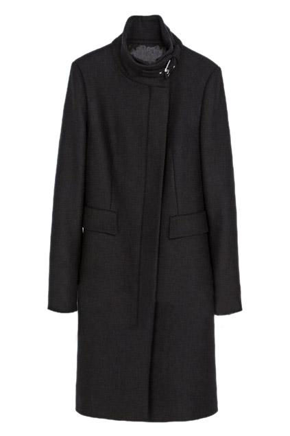 ROMWE | Buckled Slim Sheer Black Trench Coat, The Latest Street Fashion