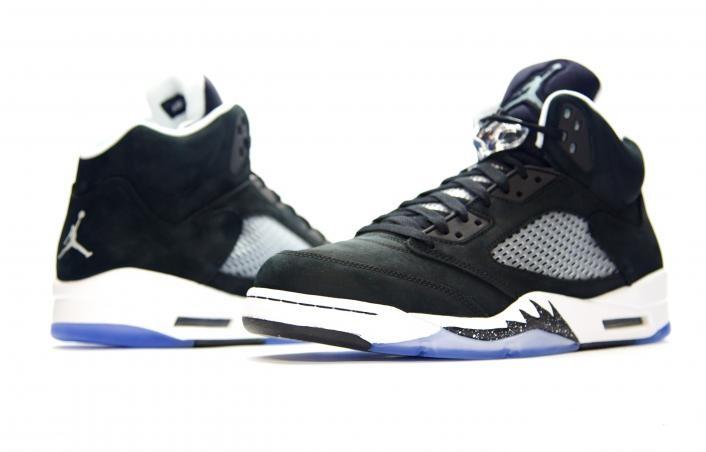 136027-035 Air Jordan 5 Oreo Black / White 2013