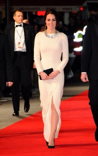 dress long sleeved princess beige cream nude pretty beautiful elegant longs kate middleton