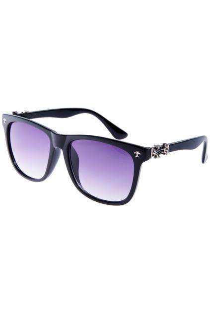 ROMWE | Baroque Embellished Gradient Black Sunglasses, The Latest Street Fashion