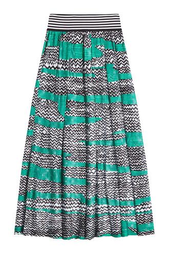 skirt printed skirt green