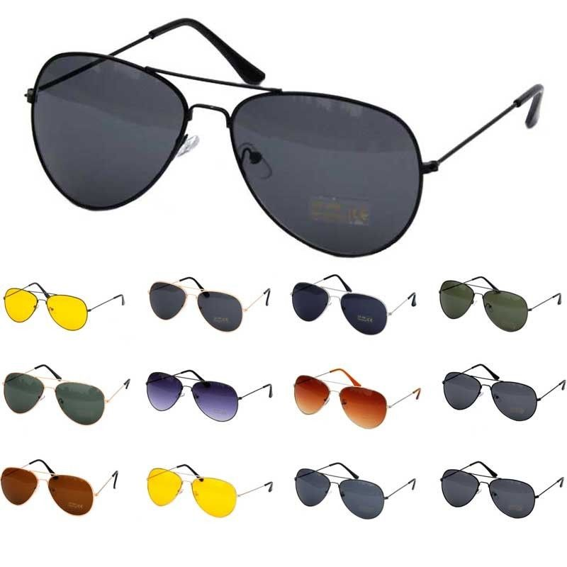 Retro Aviator Women Mens Silver Mirrored Lens Brown Gold Black Sunglasses   eBay