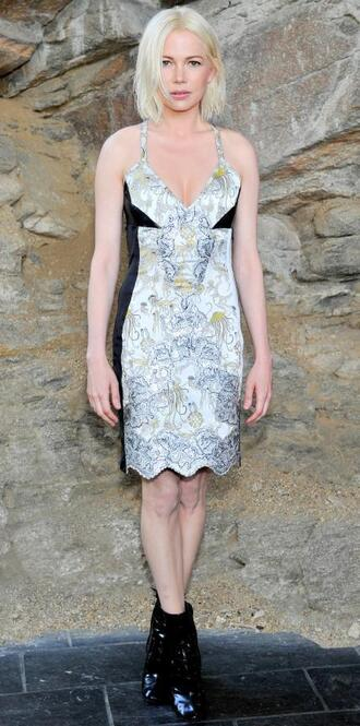 dress michelle williams andy plunge v neck