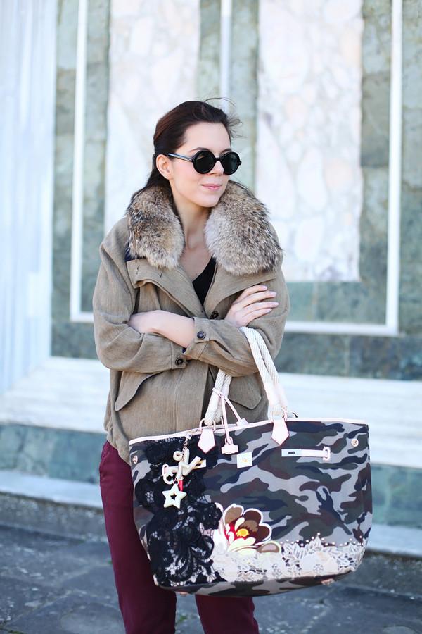 irene's closet bag coat sunglasses shoes