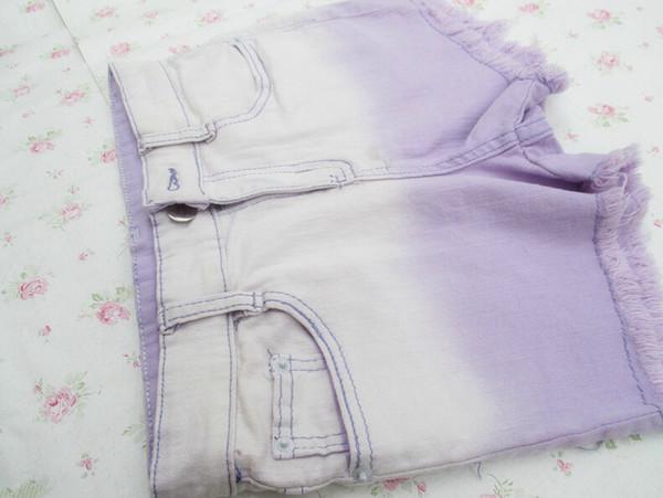 dress denim shorts shorts short gradient shorts ombre