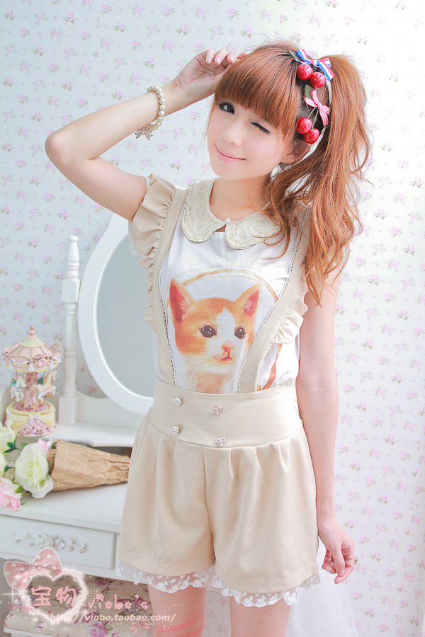 Taobao Treasure exclusive system! Wild cute cat theme t shirt (Variety) Special 2 viobo real shotturroorpnlh from English Agent:BuyChina.com
