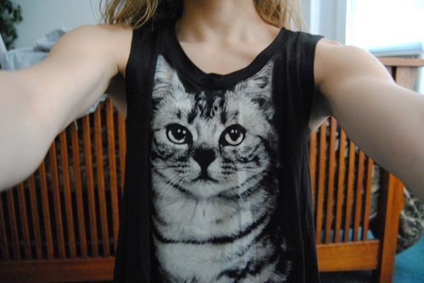 tank top cats black t-shirt cats animals cute cats eyes