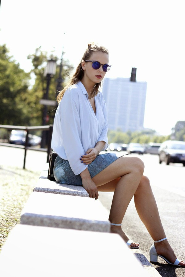 gold schnee blouse skirt shoes bag sunglasses