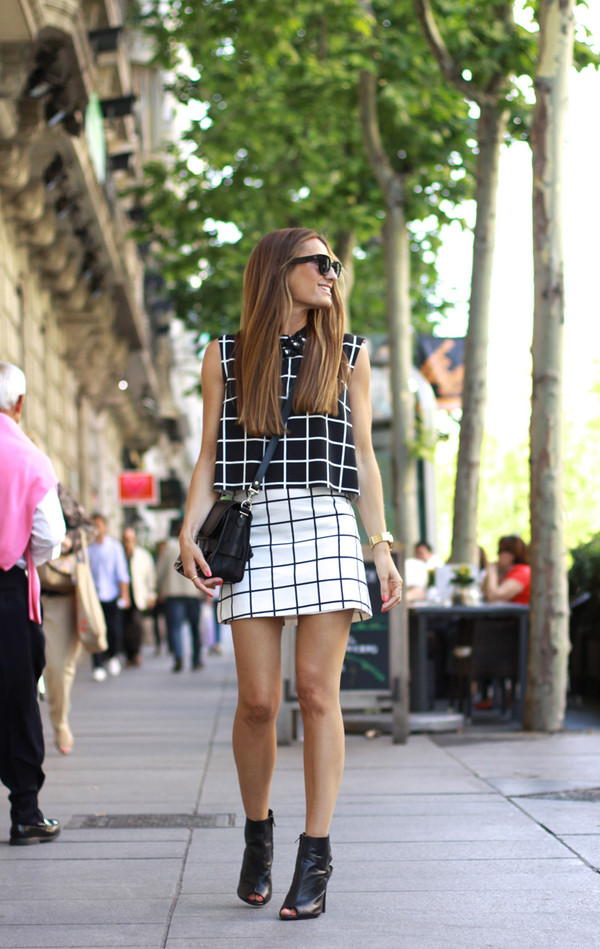 b a r t a b a c top skirt shoes sunglasses bag