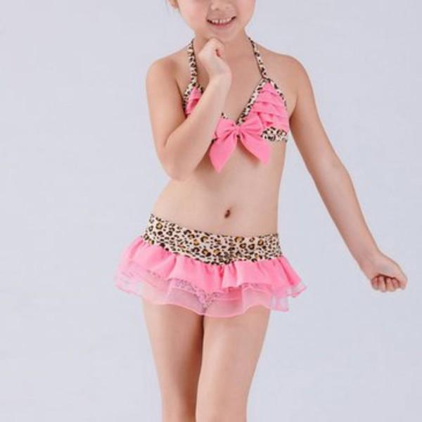 swimwear leopard bikini set