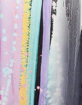 ASOS   ASOS Clutch Bag In Blurred Lines Print at ASOS