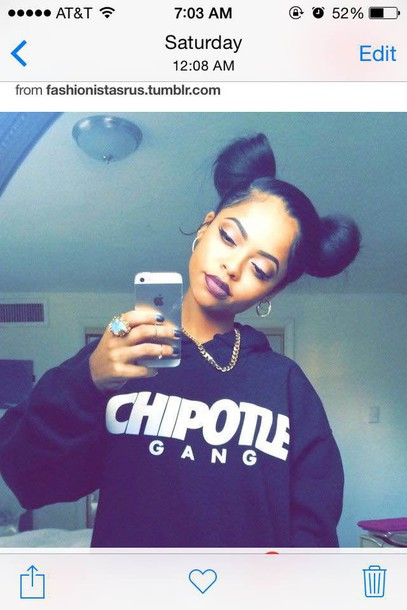 sweater sweater chipotle shirt sweatshirt chipotle swag long sweatshirt grunge hipster gang jacket chipotle gang black sweater warm sweater style tumblr tumblr shirt tumblr girl hoodie black hoodie top graphic sweater cute sweaters urban gangsta black woman jewels coat t-shirt skreened knee high socks black white pretty cute fashion instagram dress dope chipotle shirt