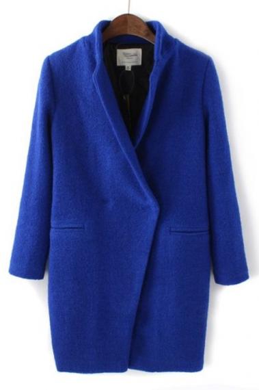 Lapel Wool Cocoon Coat Outwear