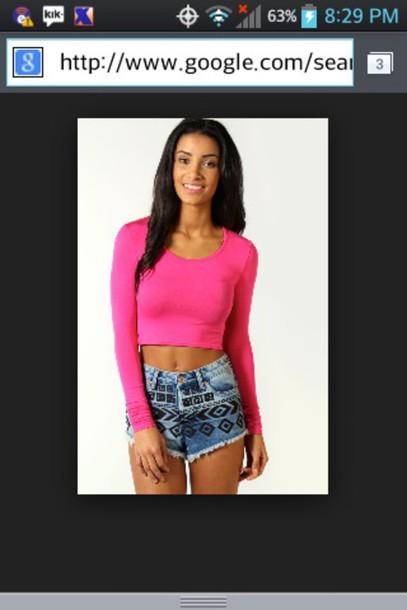 shirt pink croptop