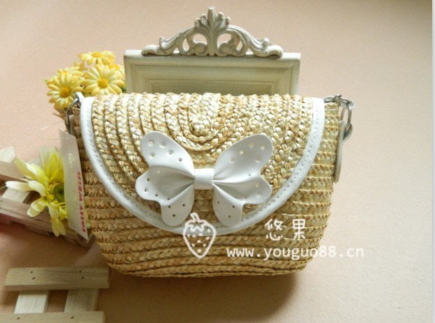 2 vintage messenger cross body bag chain bow straw bag-inMessenger Bags from Luggage & Bags on Aliexpress.com