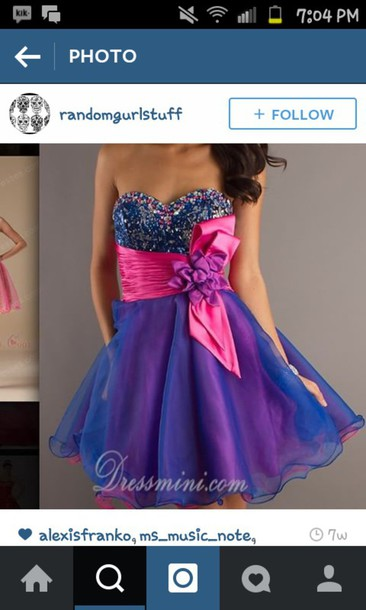 dress pink blue and purple dress sweet 16 dresses