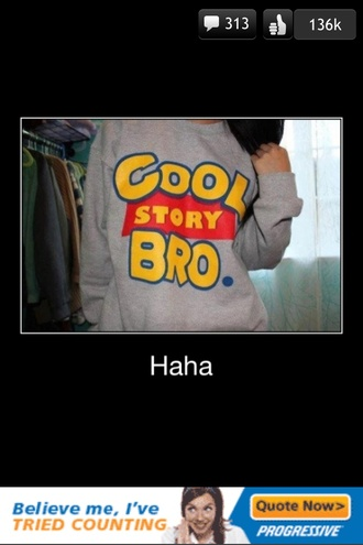 sweater toy story cool story bro girl