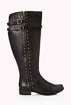 Wide Calf Studded Boots   FOREVER21 - 2000111249