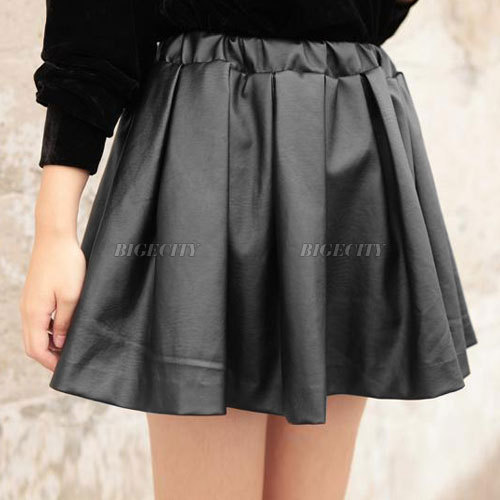 Sexy Ladies Womens Leather Look Elastic High Waist Flared Skater Mini Skirt Free Shipping-in Skirts from Apparel & Accessories on Aliexpress.com