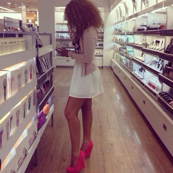 dress white summer dress shoes