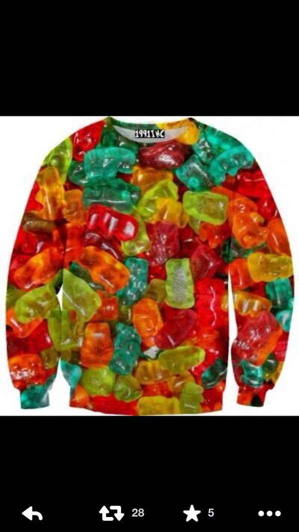 sweater gummy bears