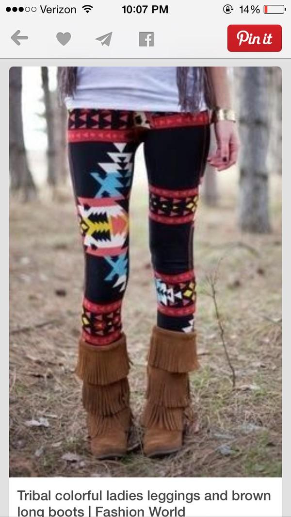leggings aztec black cute shoes