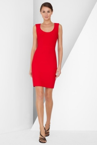 Red Passionate Sleeveless Fitted Cocktail Dress in Short Hem with Scoop Neck, Quality Unique Cocktail Dresses - Dressale.com