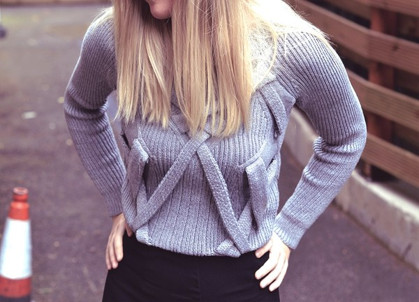 sweater grey romwe