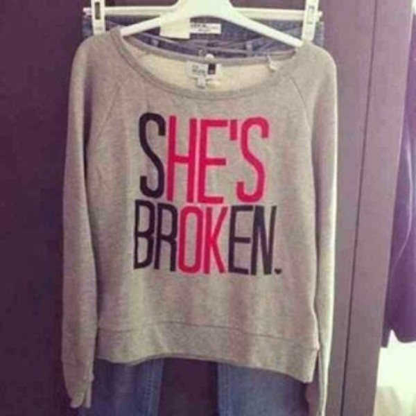 sweater shesbroken hesokay grey