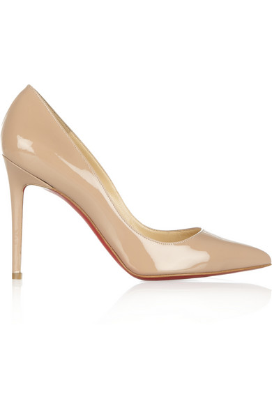 Christian Louboutin|The Pigalle 100 patent-leather pumps|NET-A-PORTER.COM