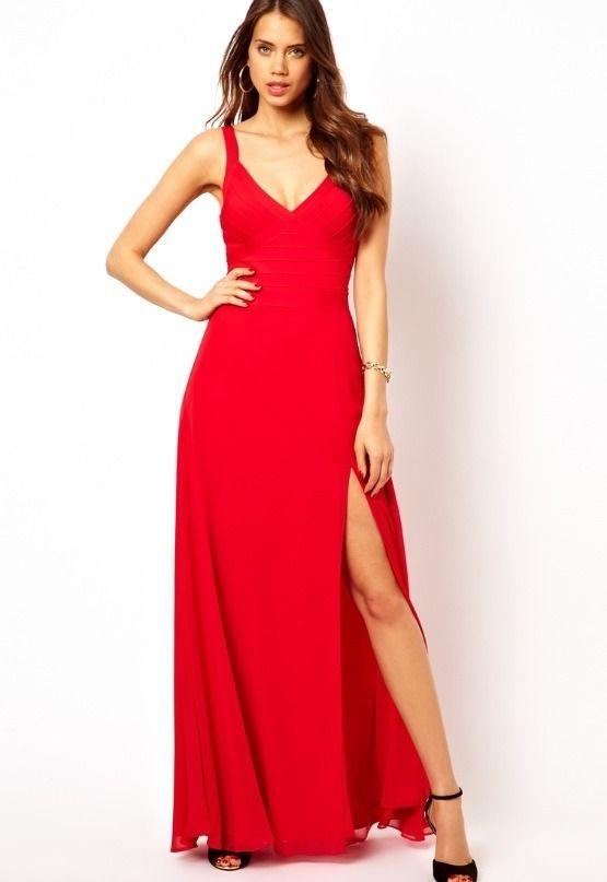 BNWT Lipsy @ Next, Red Bandage Maxi Dress. Size 14. RRP £75.00. | eBay