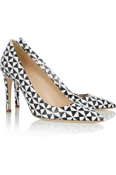 J.Crew | Falsetto printed leather pumps | NET-A-PORTER.COM
