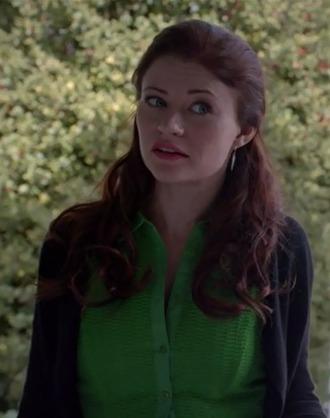 belle emilie de ravin once upon a time show green dress shirt dress black